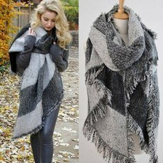 Women's Thick Long Winter Wool Blend Soft Plaid Scarf In Pakistan