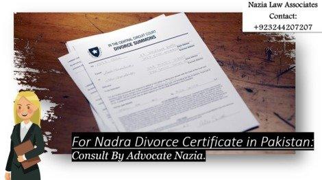 Brief Information on Divorce Certificate in Pakistan