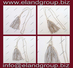 Silver Bullion Wire Tassels